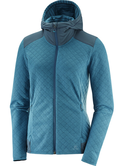 Salomon Elevate Full Zip Midlayer Women Deep Lagoon Heather/Reflecting Pond